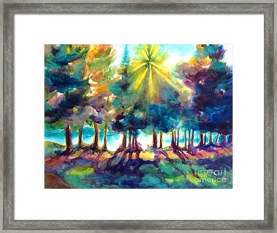 Remember The Son Framed Print by Kathy Braud