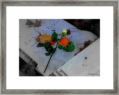 Framed Print featuring the photograph Rememberance by Lois Lepisto