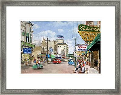 Remembering Duval St. Framed Print
