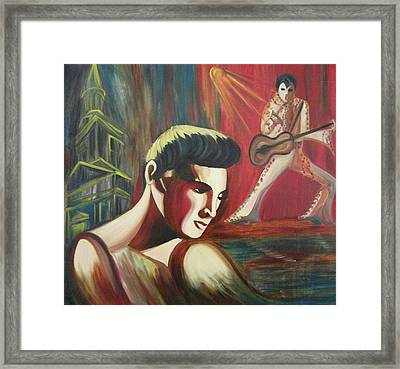 Remembering Elvis Framed Print by Suzanne  Marie Leclair