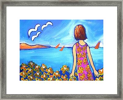 Framed Print featuring the painting Remembering Joy by Winsome Gunning