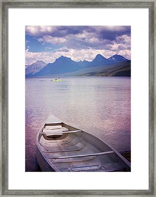 Remembering Lake Mcdonald Framed Print by Heidi Hermes