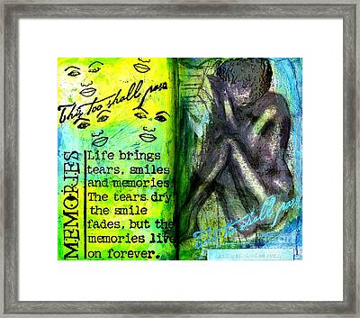 Remembering My Son -  Art Journal Entry Framed Print by Angela L Walker
