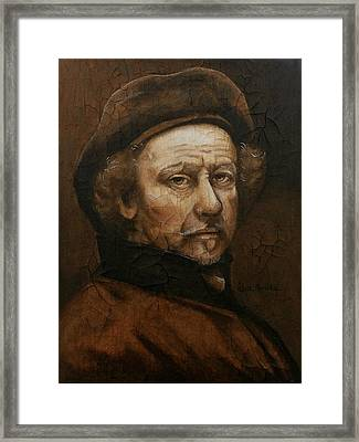 Framed Print featuring the painting Remembering Rembrandt by Al  Molina