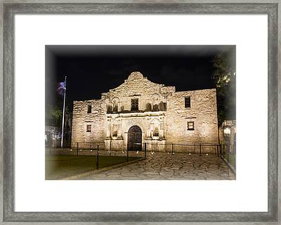 Remembering The Alamo Framed Print