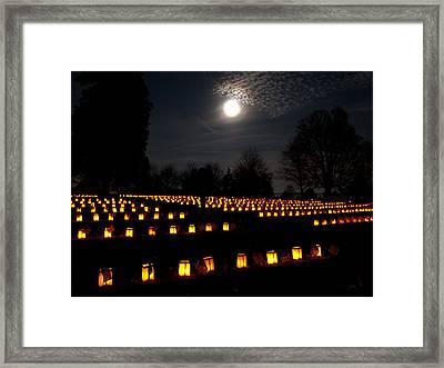 Remembering The Fallen Framed Print by Paul R Sell Jr