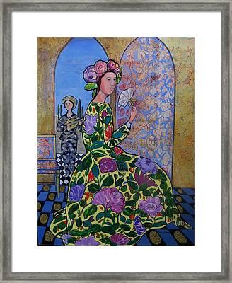 Remembering The Flower Door Framed Print by Marilene Sawaf