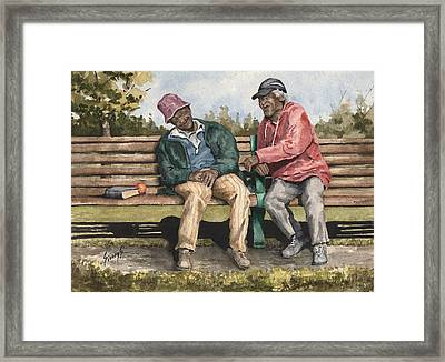 Remembering The Good Times Framed Print