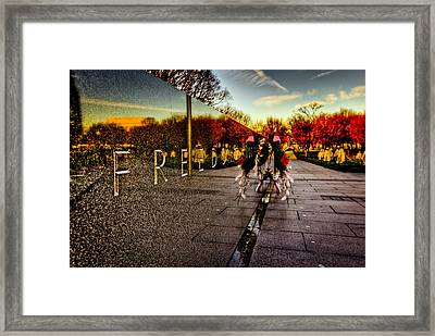 Remembering The Heroes Framed Print by David Hahn