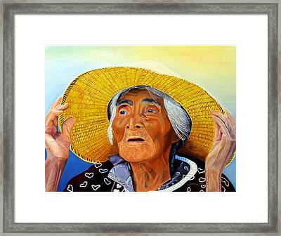 Remembering The Past Or Looking To The Furture Framed Print