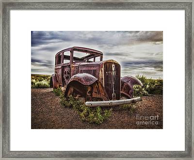 Remembering U.s. Route 66  ... Framed Print by Chuck Caramella
