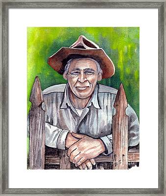 Remembering Framed Print by Val Stokes