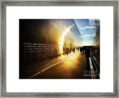 Remembrance At Empty Sky Framed Print