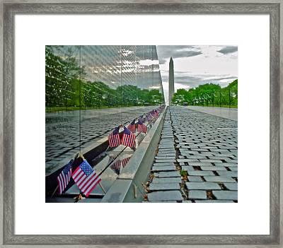 Remembrance Of Patriotism Framed Print
