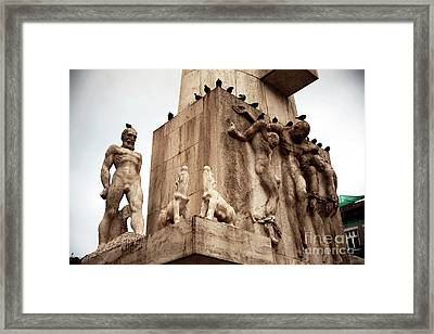Remembrance Of The Dead Framed Print