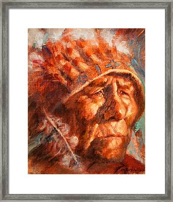 Remembrance Of Things Past Framed Print by Ellen Dreibelbis