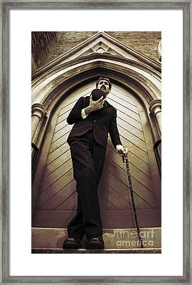 Remembrance Service Man Framed Print by Jorgo Photography - Wall Art Gallery