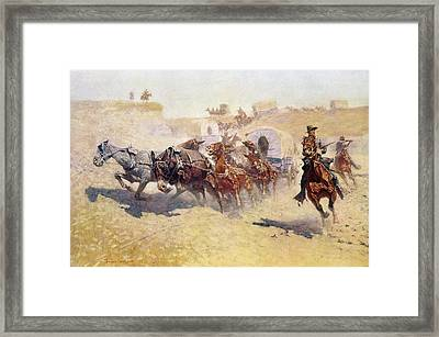 Remington: Attack Framed Print by Granger