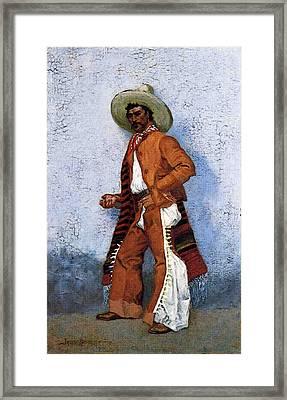 Remington Frederic A Vaquero Framed Print