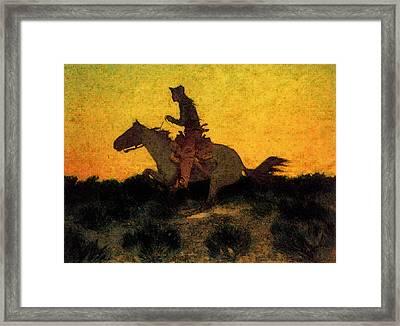 Remington Frederic Against The Sunset Framed Print