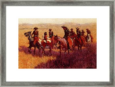 Remington Frederic An Assault On His Dignity Framed Print