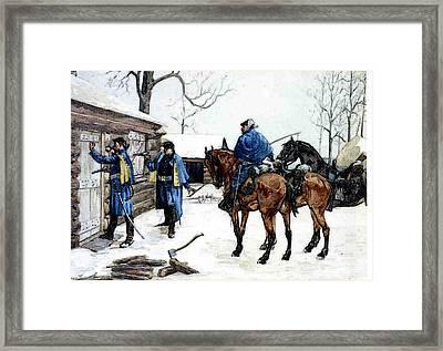 Remington Frederic Arresting The Deserter Framed Print