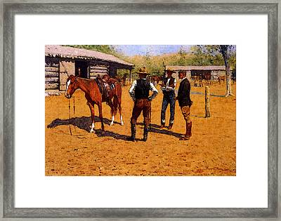 Remington Frederic Buying Polo Ponies In The West Framed Print