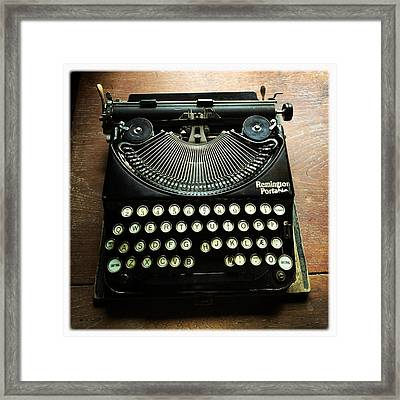 Remington Portable Old Used Typewriter Framed Print