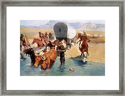 Remington: The Emigrants Framed Print