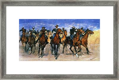 Remington: Troopers, C1890 Framed Print by Granger