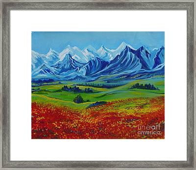 Reminiscences Of Asia.spring Time On Djalyau Framed Print