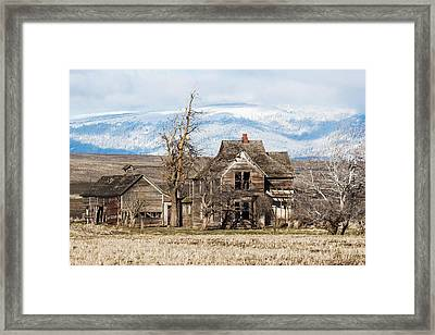 Reminiscing Along Centerville Hwy Framed Print by Angie Vogel