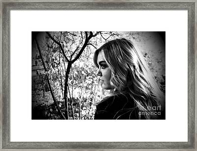 Reminiscing In The Park Framed Print by Krissy Katsimbras