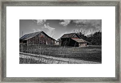 Remnants Of An Old Barn Framed Print by Deborah Klubertanz