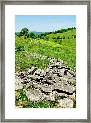 Remnants Of Camp Allegheny Framed Print by Thomas R Fletcher