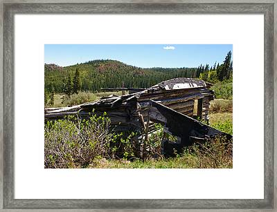 Remnants Of Caribou Framed Print by Cynthia Cox Cottam