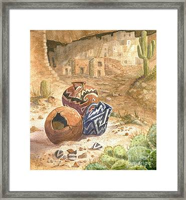 Remnants Of The Ancient Ones Framed Print by Marilyn Smith