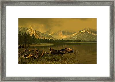 Remnants Of Time Framed Print by Dieter Carlton