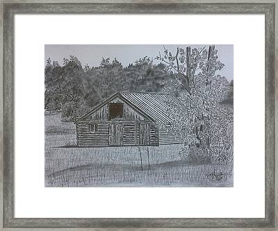 Remote Cabin Framed Print