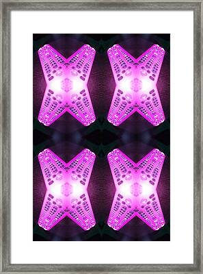 Remote Madness Pink Framed Print by Christina Martinez