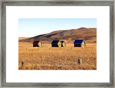 Remote Mongolia Framed Print
