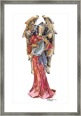 Renaissance Angel Framed Print by Claudia Hafner