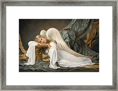 Renaissance Angel Framed Print by Daria Doyle