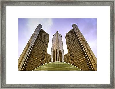 Renaissance Center Framed Print by Michael Peychich