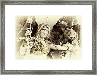 Framed Print featuring the photograph Renaissance Festival Barbarians by Bob Christopher