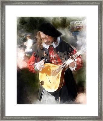 Renaissance Musician Framed Print by Fred Baird