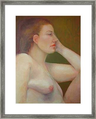 Renaissance Nude  Copyrighted Framed Print by Kathleen Hoekstra