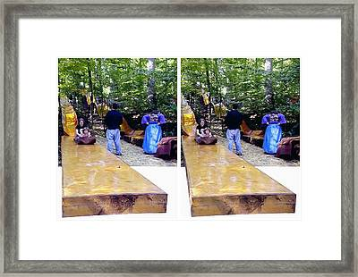 Framed Print featuring the photograph Renaissance Slide - Gently Cross Your Eyes And Focus On The Middle Image by Brian Wallace