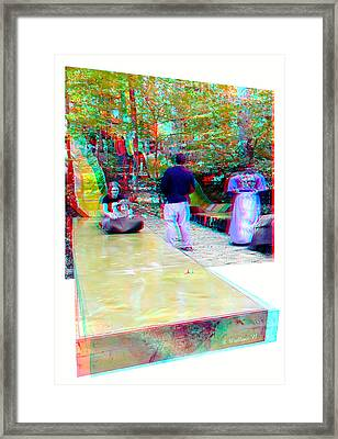 Framed Print featuring the photograph Renaissance Slide - Red-cyan 3d Glasses Required by Brian Wallace