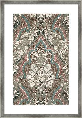 Renaissance Textile Pattern Framed Print